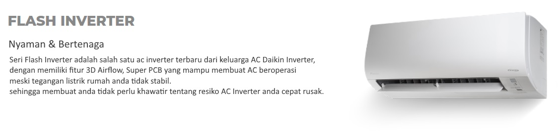 AC Split Daikin - Daftar Harga Daikin Terbaru - AC Daikin Inverter Flash - Global Teknik