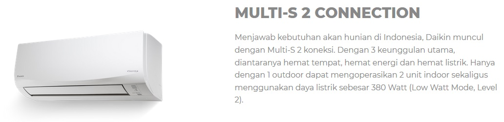 Multi S 2 Connection - AC Split Daikin - AC Rumah - Harga AC Daikin - Global Teknik